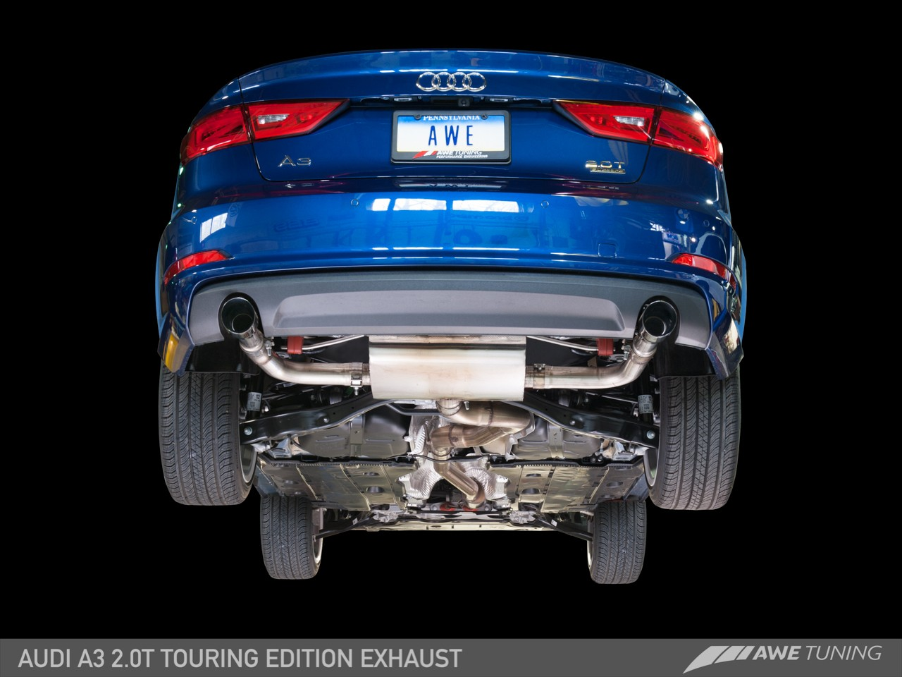 awe tuning audi a3 2 0t sedan exhaust system. Black Bedroom Furniture Sets. Home Design Ideas