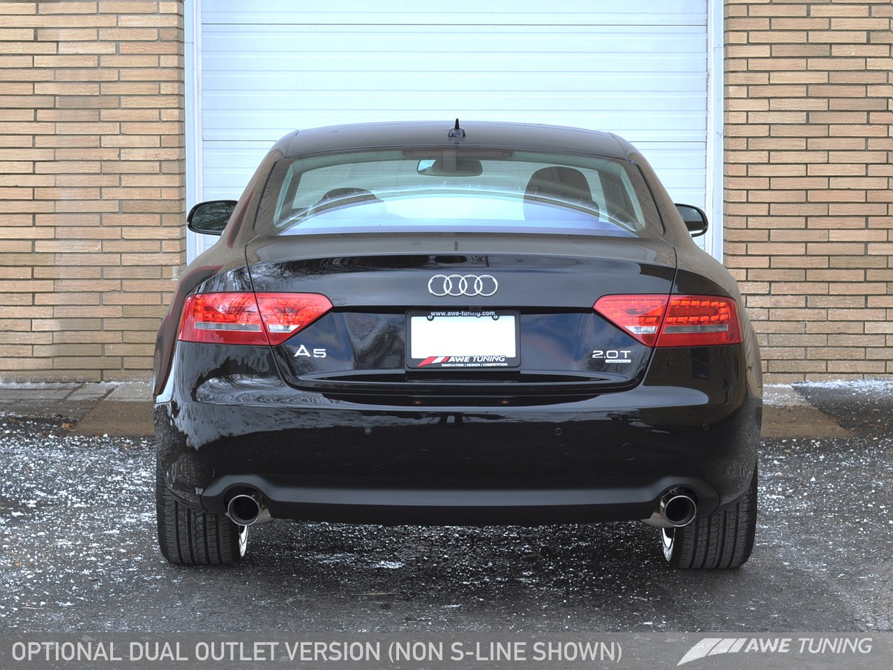 Audi A5 Exhaust  custom exhaust w titanium tips 3 2 pics