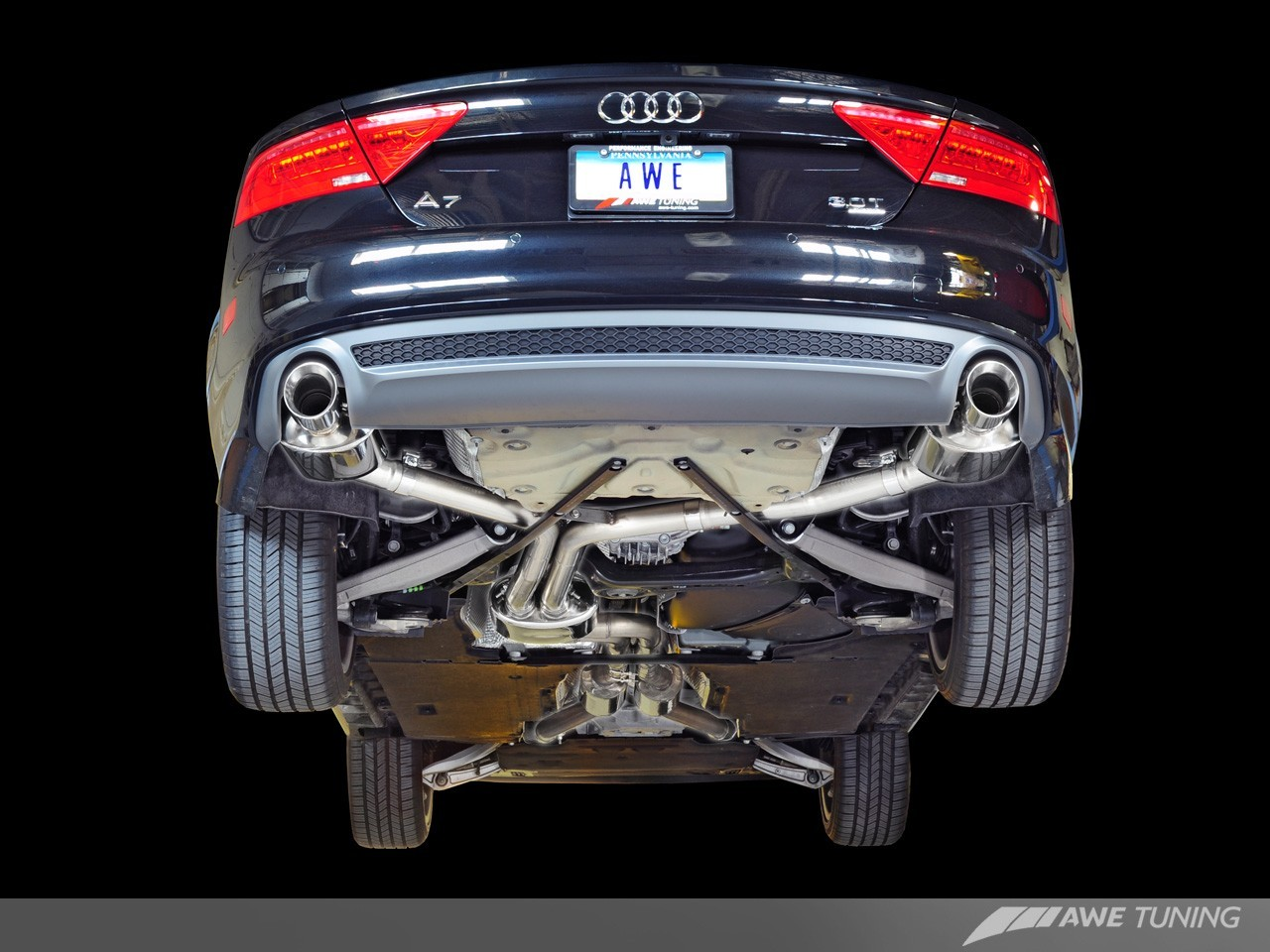 awe exhaust tuning undershot touring edition AWE-A7-3.0T-EXHAUST_GROUP