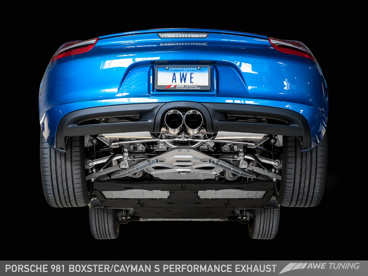 Awe Tuning Porsche 981 Boxster S Performance Exhaust Awe