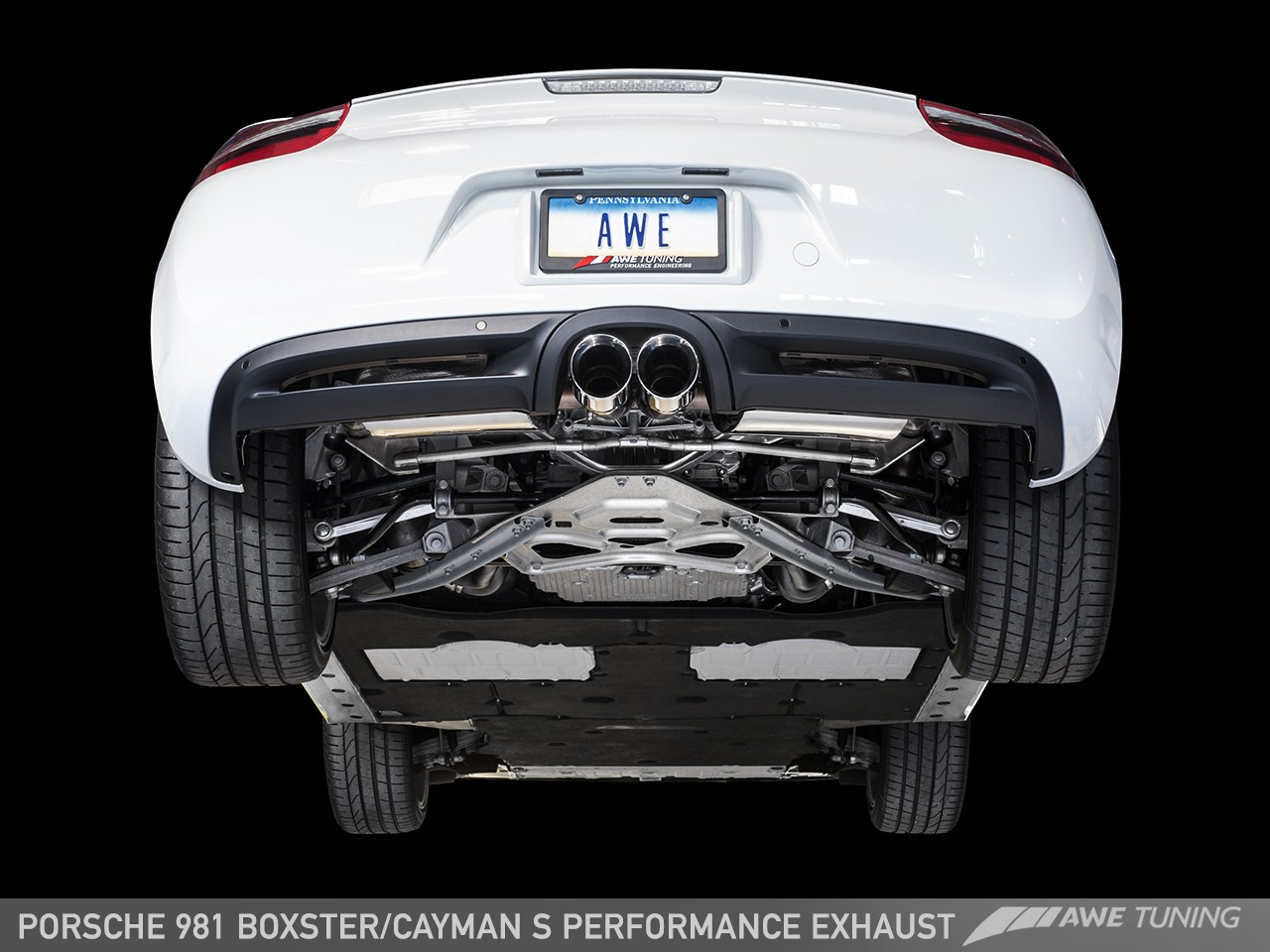 awe tuning porsche 981 cayman s performance exhaust awe tuning