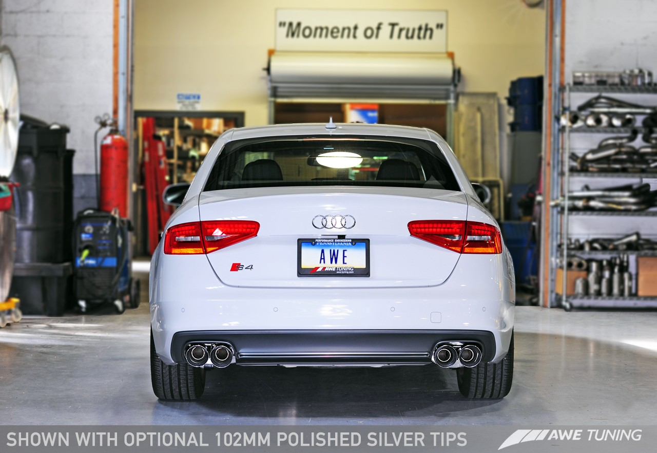 AWE Touring Edition Exhaust and Downpipe Systems for Audi B8