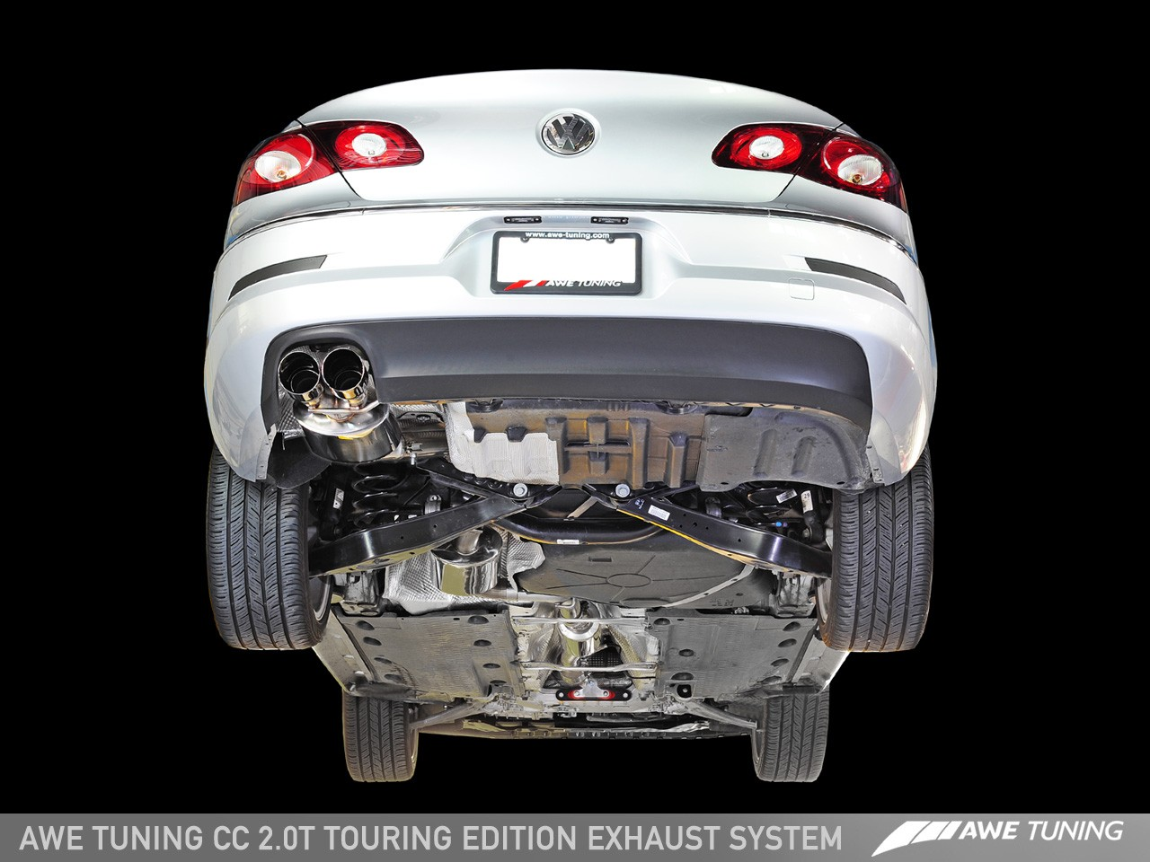 awe touring edition exhaust system for vw cc 20t awe tuning