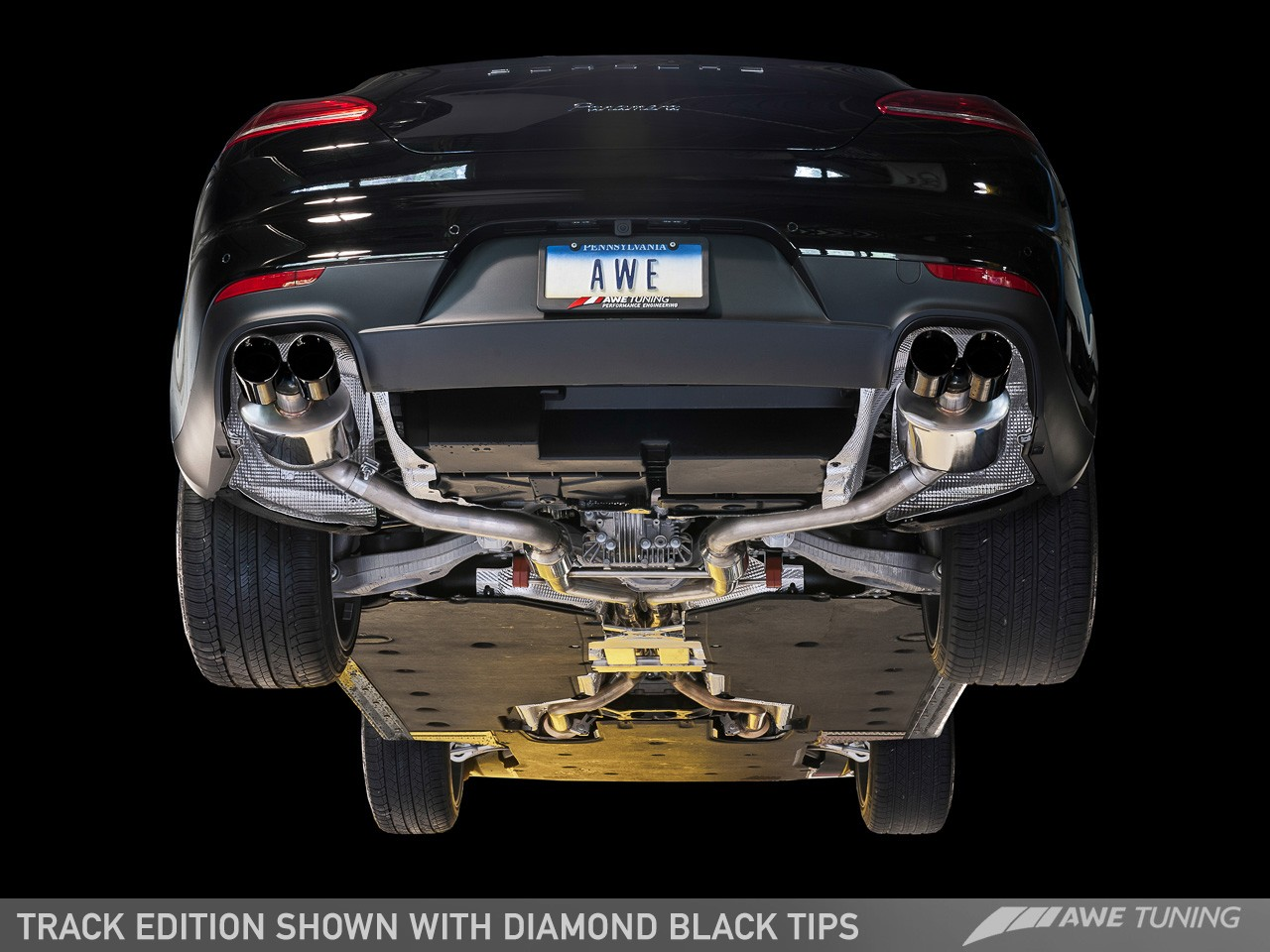 Awe Track And Touring Edition Exhaust Systems For Porsche Panamera 2 4 Tuning