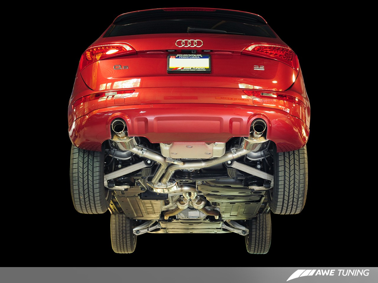 Awe Performance Exhaust And Downpipe Systems For Audi Q5 32l 2009 Wiring Diagram Tuning