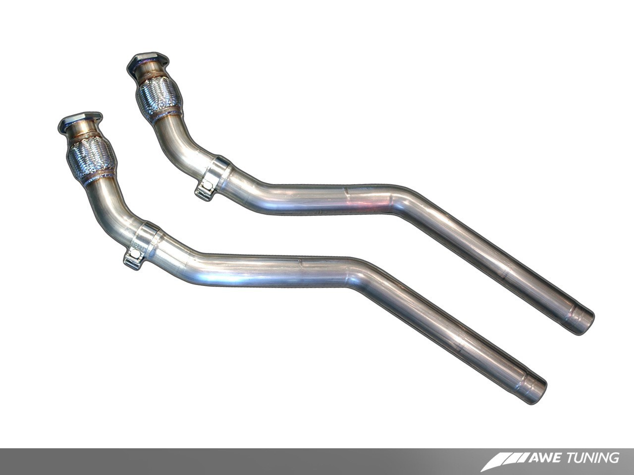 AWE Non-Resonated Downpipes for B8 S5 4 2L | AWE Tuning