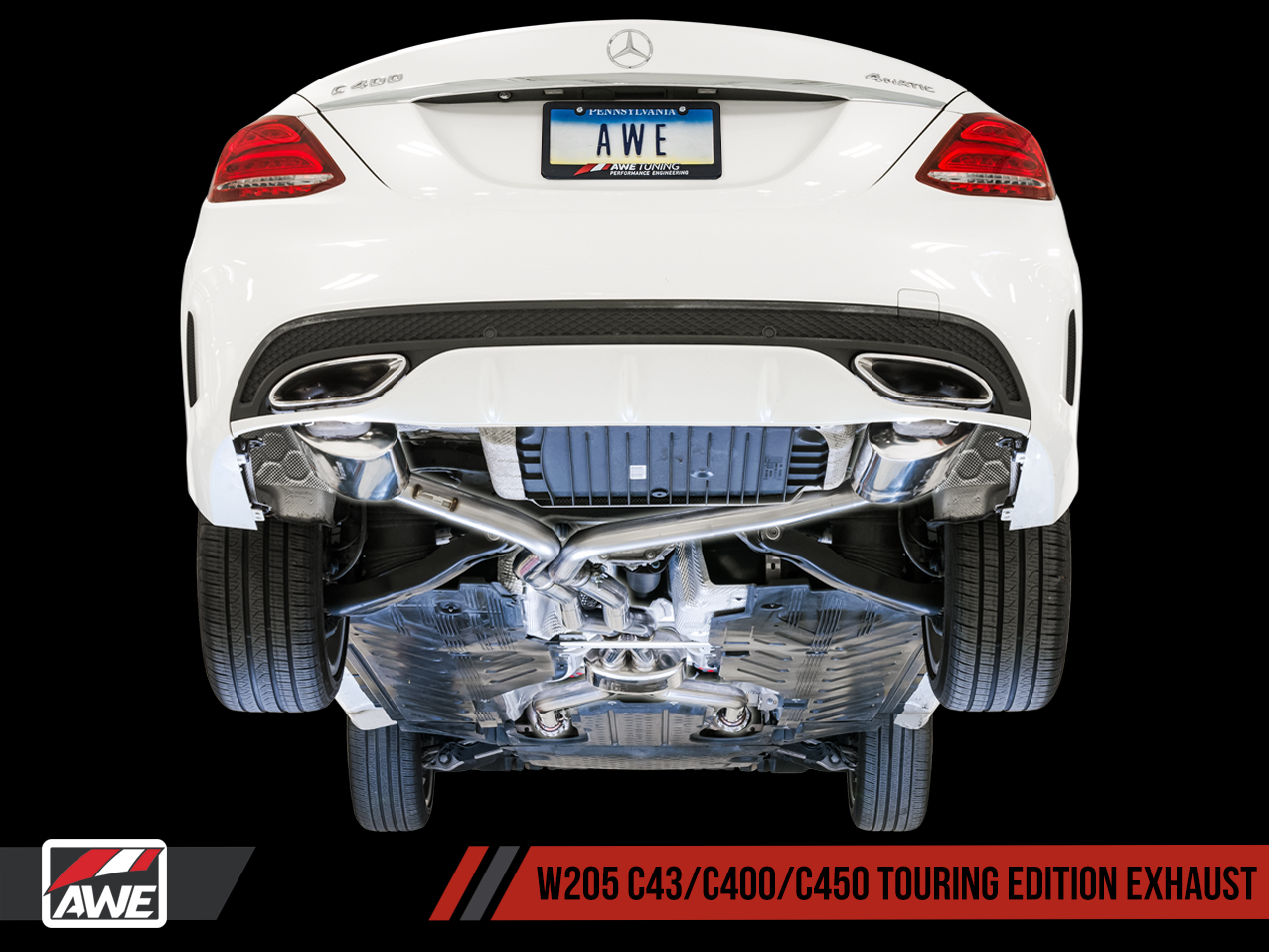 AWE Tuning Mercedes-Benz W205 AMG C43 / C400 / C450 Exhaust Suite