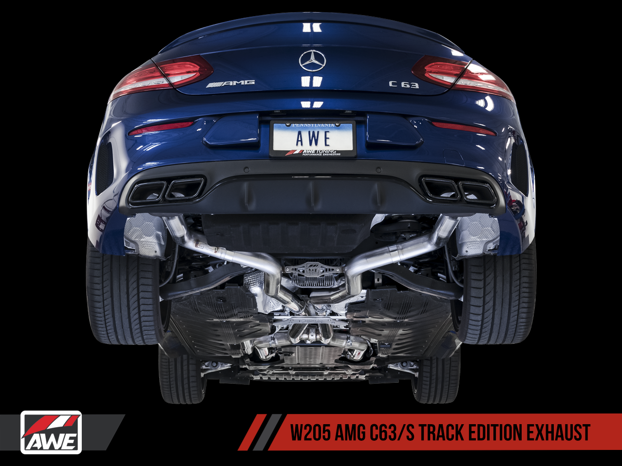 AWE Tuning Mercedes-Benz C63 Exhaust Suite for Coupe and Sedan | AWE