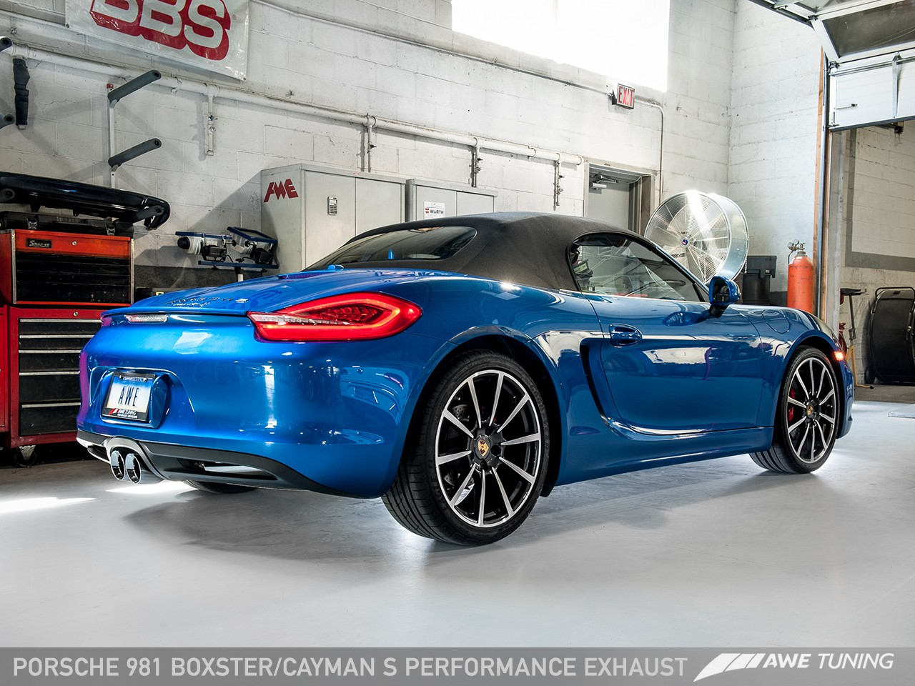 porsche_981_boxster_s_rear34_1280_2 awe performance exhaust for porsche 981 boxster s awe tuning